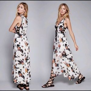 FREE PEOPLE FP ONE Moonlight Garden Floral Maxi